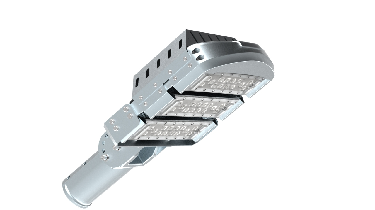 Modular roadway luminaire hps series ledrays for Luminaire mural exterieur led